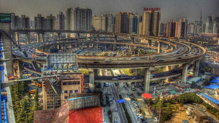 Nanpu Bridge Interchange 3 - Shanghai_ China