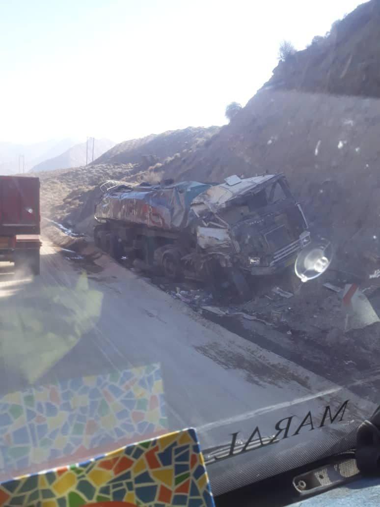تصادف در جاده حاجی آباد