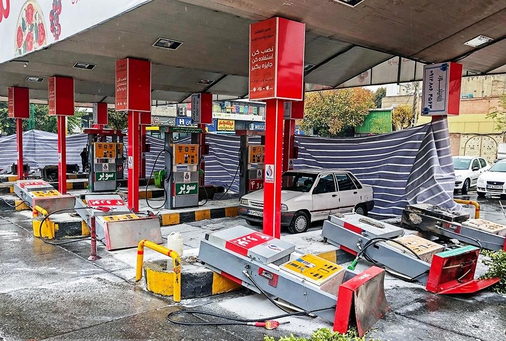 اعتراض به گرانی بنزین2