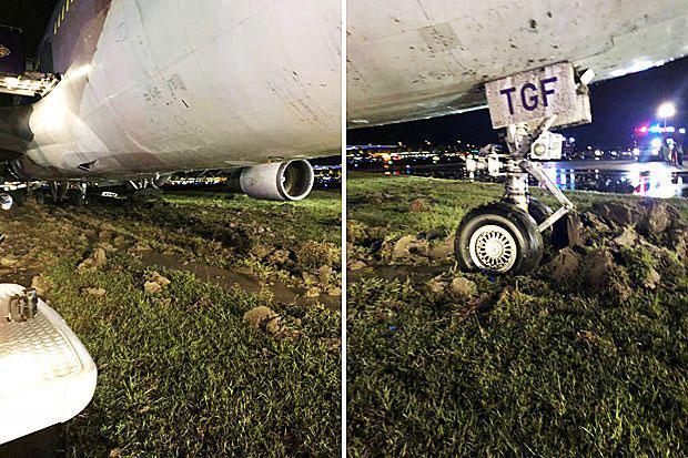خروج هواپیمای تایلند از باند