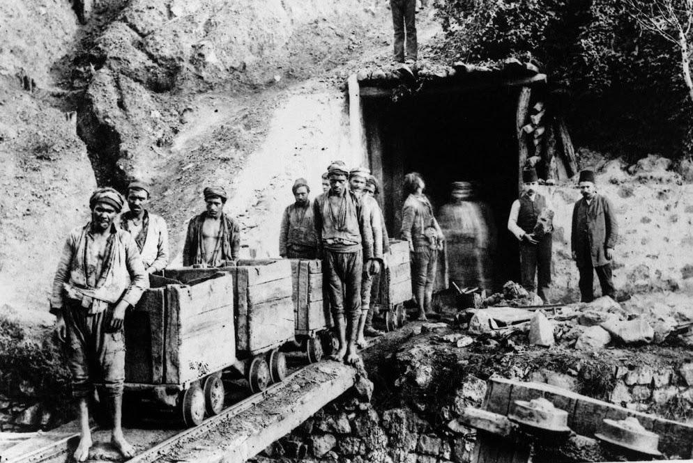Kozlu_da Petri Maden Oca__ndaki i__iler II.Abdulhamit Kolleksiyonu