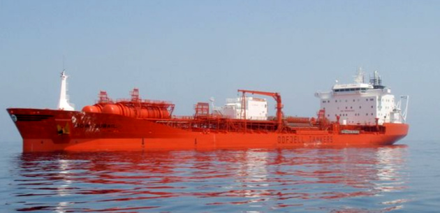Oil released from Odfjell tanker after collision with jetty