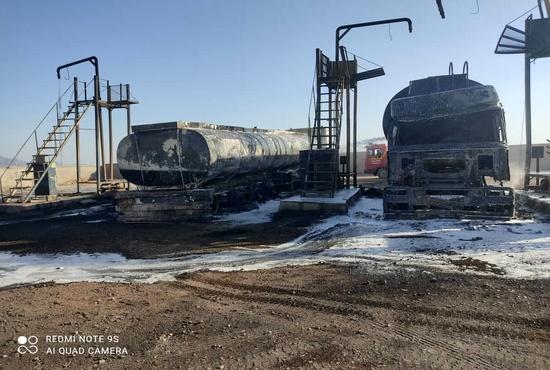 فیلم| یک آتش سوزی دیگر در گمرک مرزی/ صدور بخشنامه تعیین تکلیف تانکرهای سوخت در مرزها