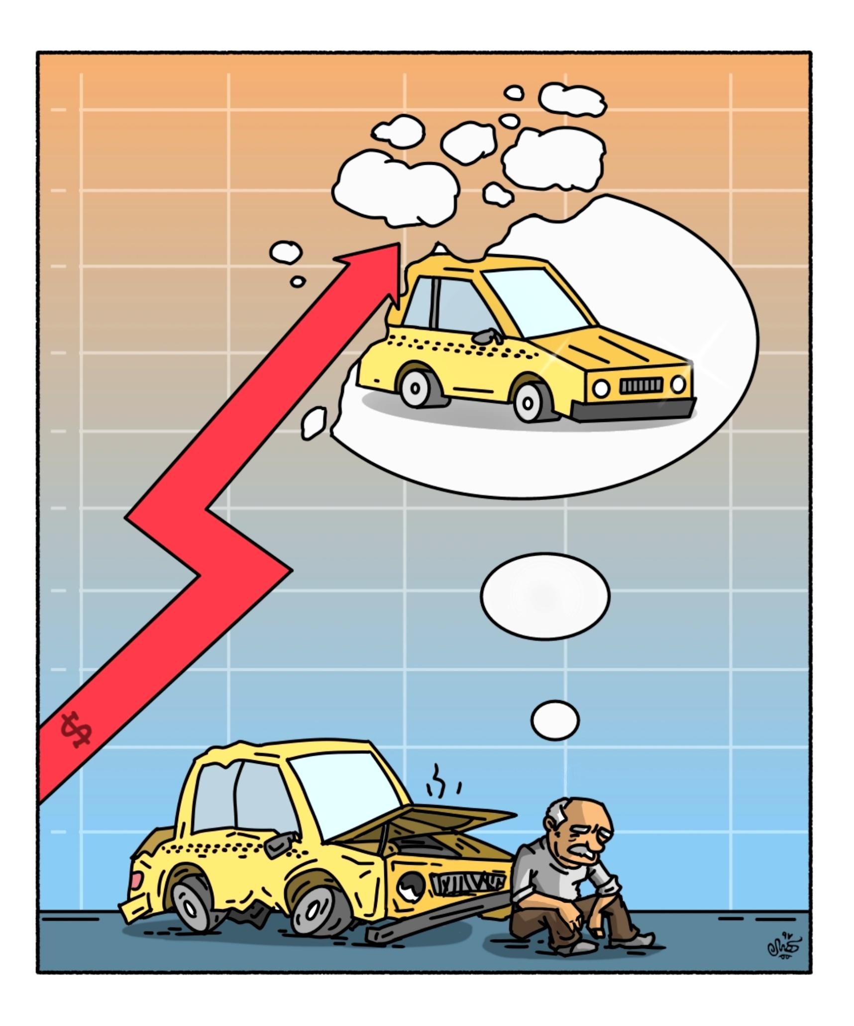 توقف نوسازی تاکسی ها