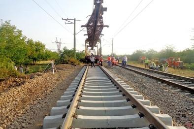 ۷۰ کیلومتر از پروژه راه آهن همدان - سنندج ریلگذاری شد