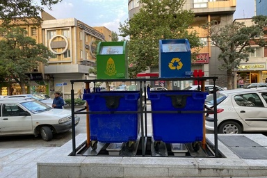 اولین بار در شهر همدان، اجرای مخازن زیرزمینی مکانیزه زباله