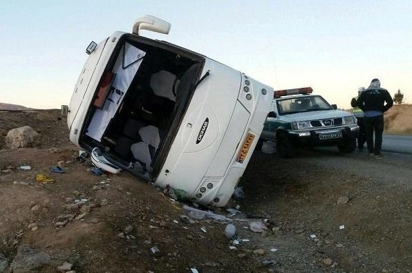 کشته شدن 6نفر در واژگونی اتوبوس زائران عراقی