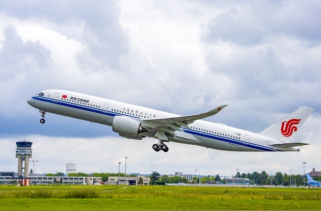 Air China's first A350 takes maiden flight