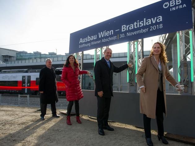 Wien – Bratislava upgrade inaugurated