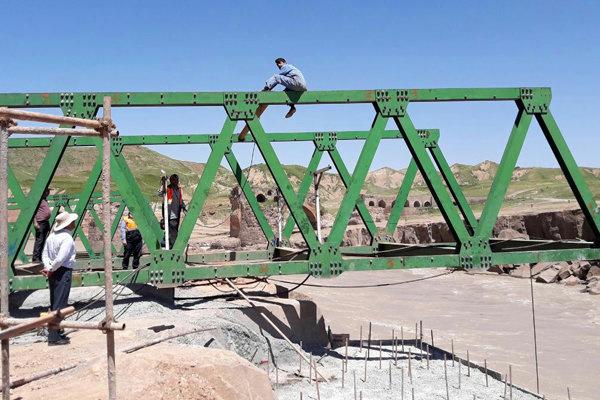 پل موقت گاومیشان به پلدختر وصل شد