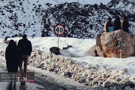 عملیات بازگشایی جاده پیست اسکی تاریک دره همدان