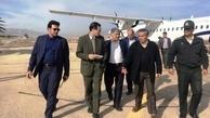 بازدید مدیرعامل شرکت فرودگاهها و ناوبری هوایی ایران از فرودگاه جهرم