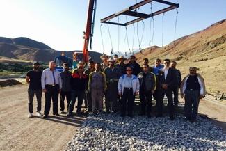 حضور مدیرعامل تراورس در پروژه روسازی راه آهن قزوین – رشت