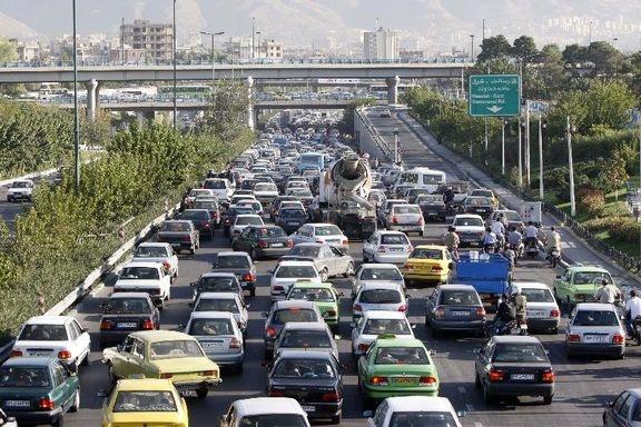 ترافیک نیمه سنگین در آزادراه قزوین به کرج