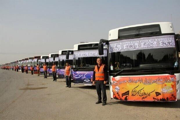 ۷۲۰ دستگاه اتوبوس زائران اربعین گلستان را جابهجا کردند