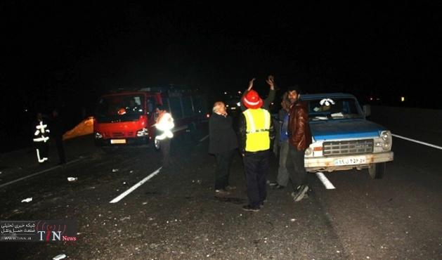 تصادف در مسیر سقز - مریوان دو کشته و چهار زخمی بر جا گذاشت