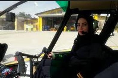 پرواز اولین زن خلبان هلیکوپتر ایران