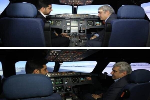 Iran unveils Airbus 320 flight simulator