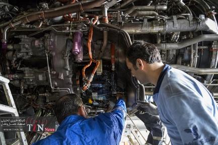 بازدید خبرنگاران از تعویض موتور ایرباس  ۳۰۰-۶۰۰ ایرانایر