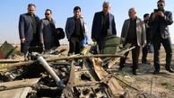 بازدید مدیرعامل شرکت شهر فرودگاهی امام  از محل سقوط هواپیمای مسافربری بویینگ ۷۳۷