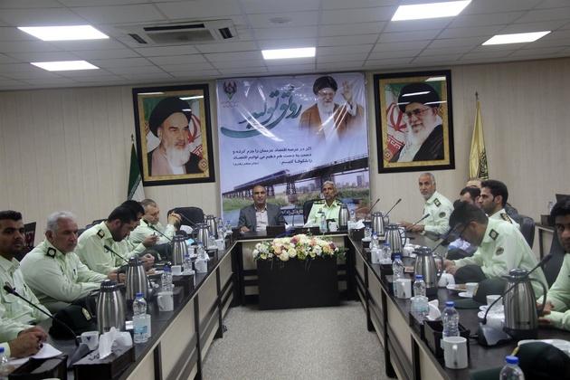 تودیع ومعارفه رئیس پلیس راه آهن جنوب