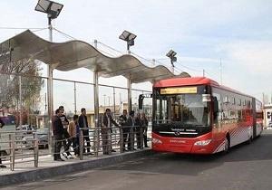 تغییر برنامه مسافرگیری در خط ۷ اتوبوسهای بی آر تی