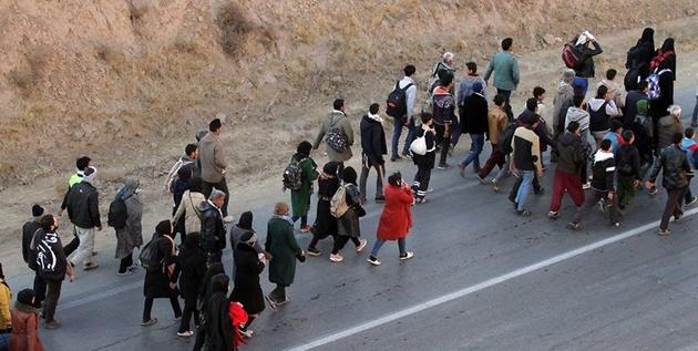 تدابیر پلیس برای ساماندهی پیاده روی زوار مشهد