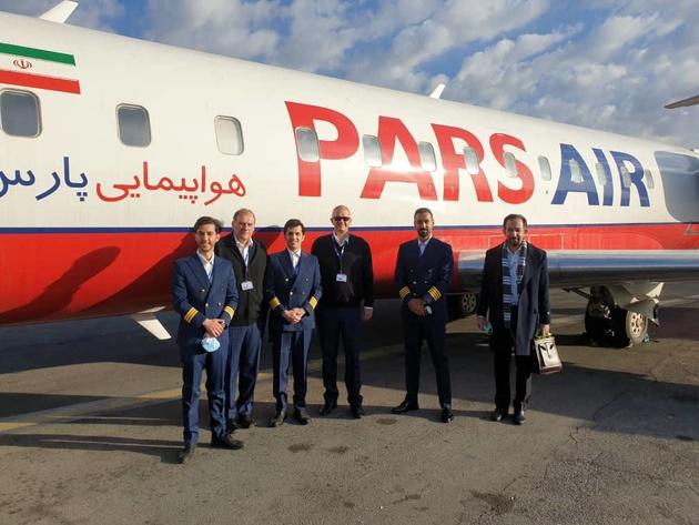 افتتاح اولین پرواز شرکت هواپیمایی پارس ایر در مسیر تهران -گچساران