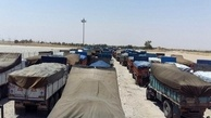 سنگاندازی عراق باعث اعتصاب رانندگان شد