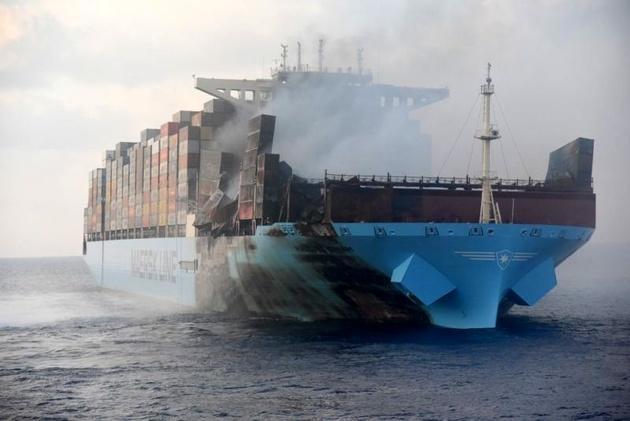Maersk Honam Docks in Jebel Ali Nearly Three Months After Fire