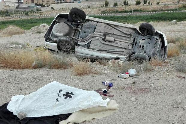 دو کشته در واژگونی خودرو در اتوبان تهران - قم