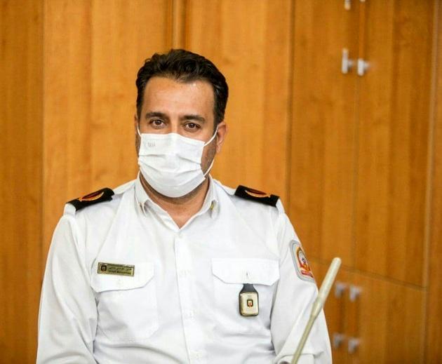 مهار آتش سوزی چوب بری در جاده ورزیران قزوین