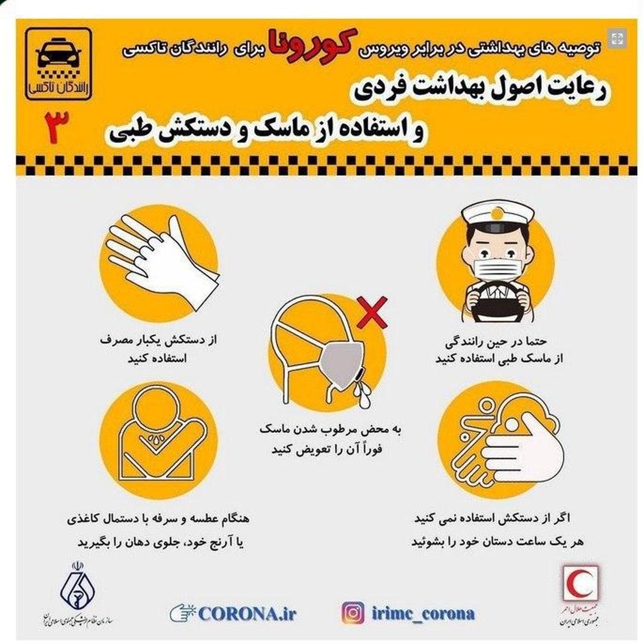 استفاده از ماسک و دستکش