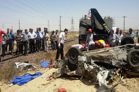تصادف دو خودرو و قطار در اراک چهار کشته برجا گذاشت