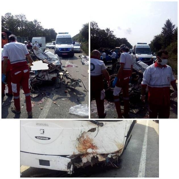 برخورد اتوبوس و پراید در جاده سراوان ۶ کشته برجای گذاشت