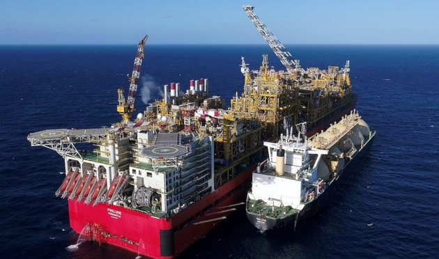 Shell's Prelude FLNG Begins Initial Phase of Production Off Western Australia