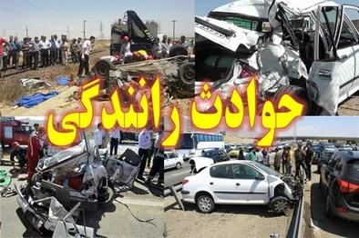 تصادف اتوبوس در سمنان 10 مصدوم و 2 کشته داشت