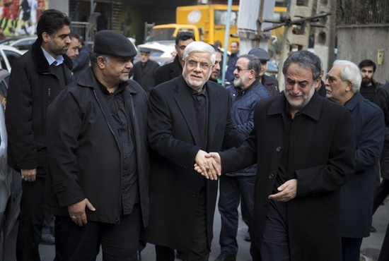 تشییع پیکر دو تن از شهدای سانحه هوایی در تهران
