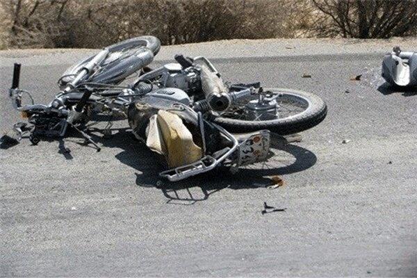 برخورد مرگبار کامیون با موتور سیکلت