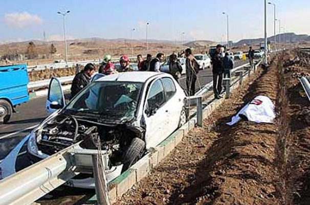 یک کشته در سانحه رانندگی در محور دلیجان - اصفهان