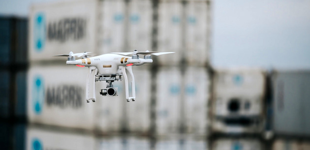 Supervisors use drones to monitor activities at APM Terminals