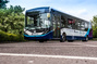 Autonomous bus takes passengers on manoeuvres