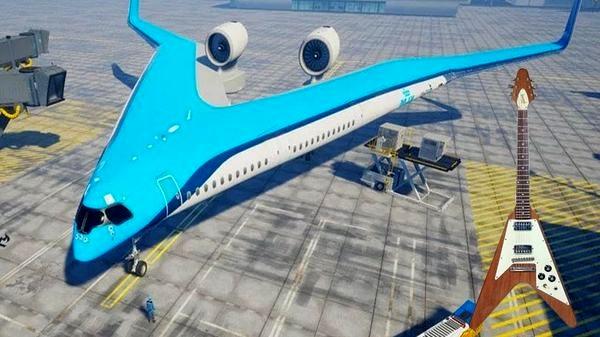 با Flying-V آشنا شوید؛ هواپیمایی برگرفته از شکل یک گیتار و 20 درصد مصرف سوخت کمتر
