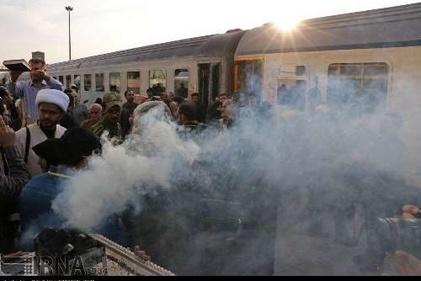 گزارش تصویری/ حرکت نخستین قطار مسافربری قم - کربلا