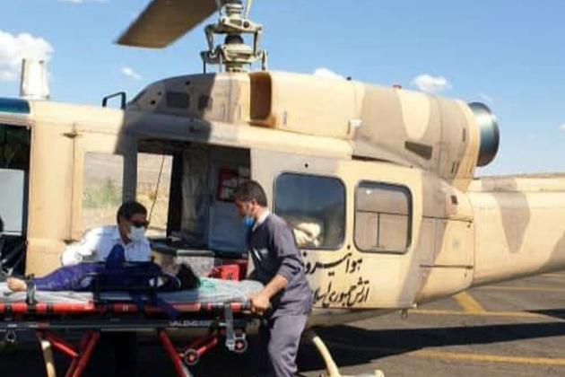 انتقال مجروحان حادثه جاده ماهنشان با بالگرد امدادی هوانیروز