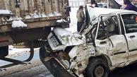 تصادف زنجیرهای ۳۰ خودرو در جاده سبزوار - نیشابور