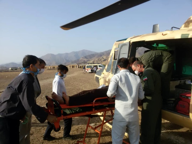 نجات جان سه هموطن با همت اورژانس هوایی زنجان