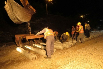 بهسازی پروژه ریلی راهآهن شمال