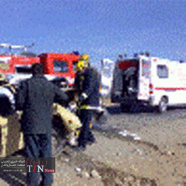 واژگونی مرگبار کامیون حامل آسفالت در مراغه جان ۲ نفر را گرفت