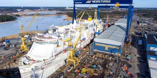 Costa Cruises' first LNG-fueled vessel floated out